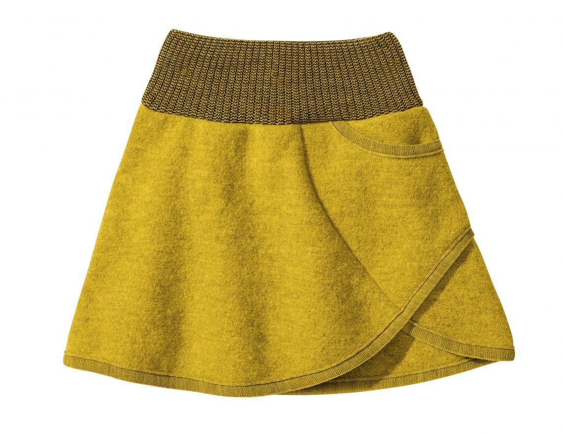 NILA - Sukně z merino vlny žlutá 0a93847e64